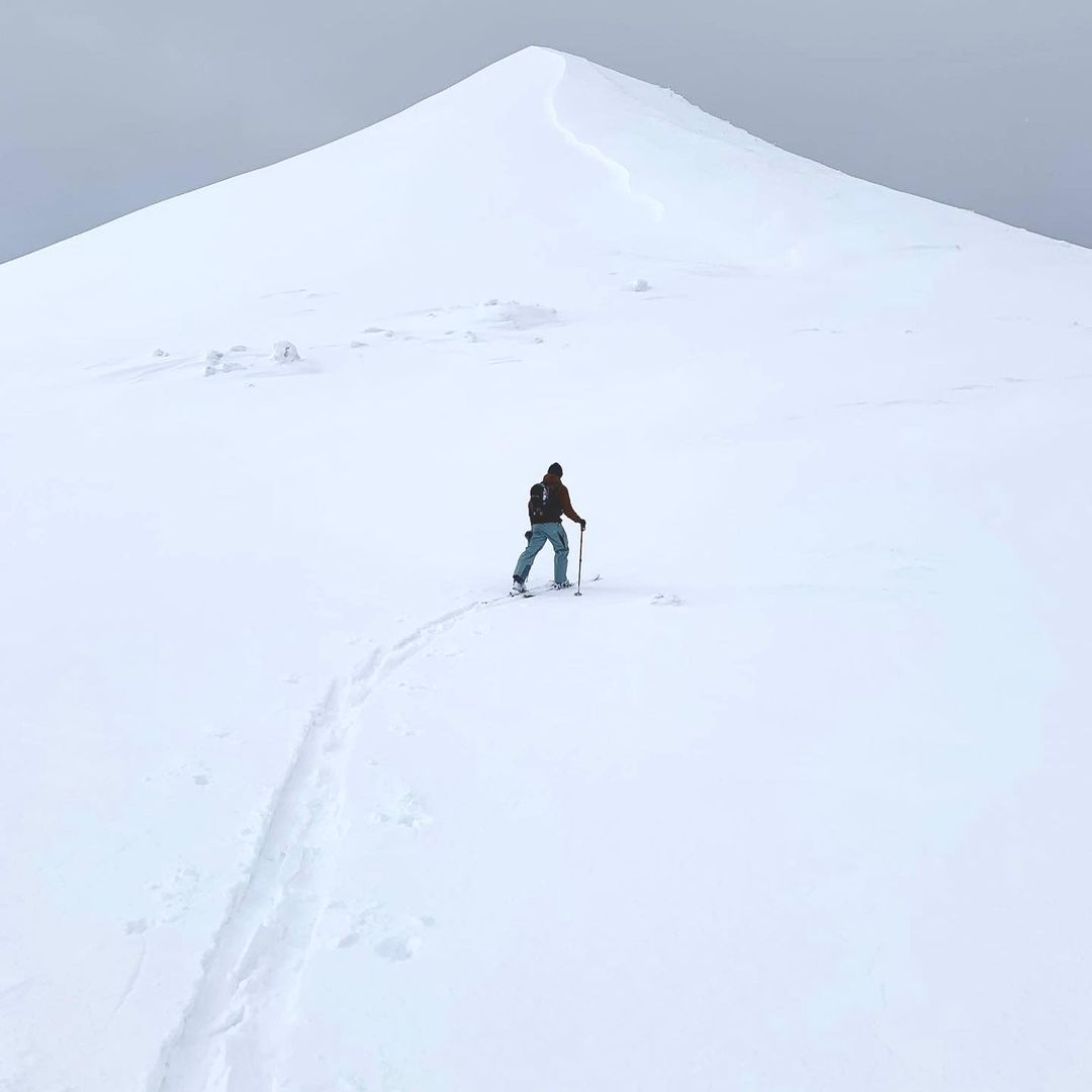 lone skier on slope