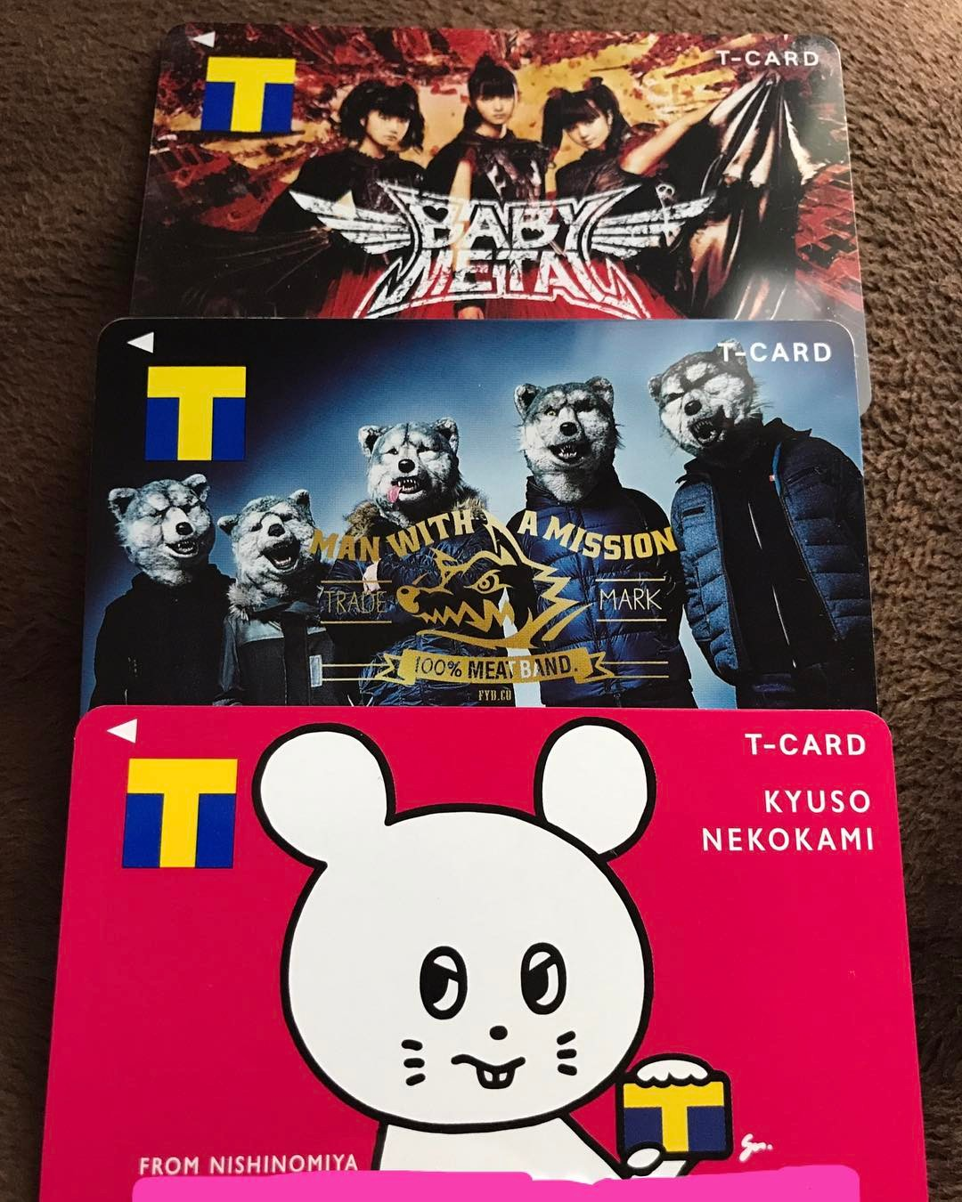 music themed t-point cards
