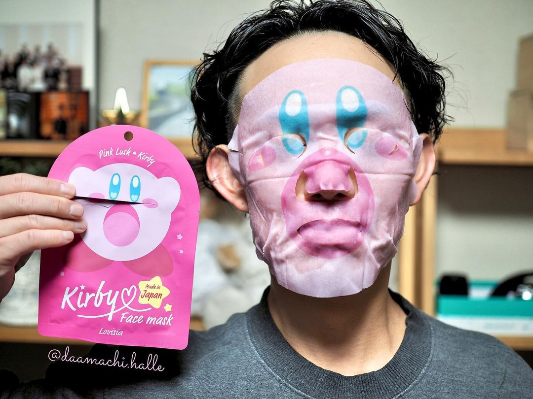 Kirby Pokemon face pack