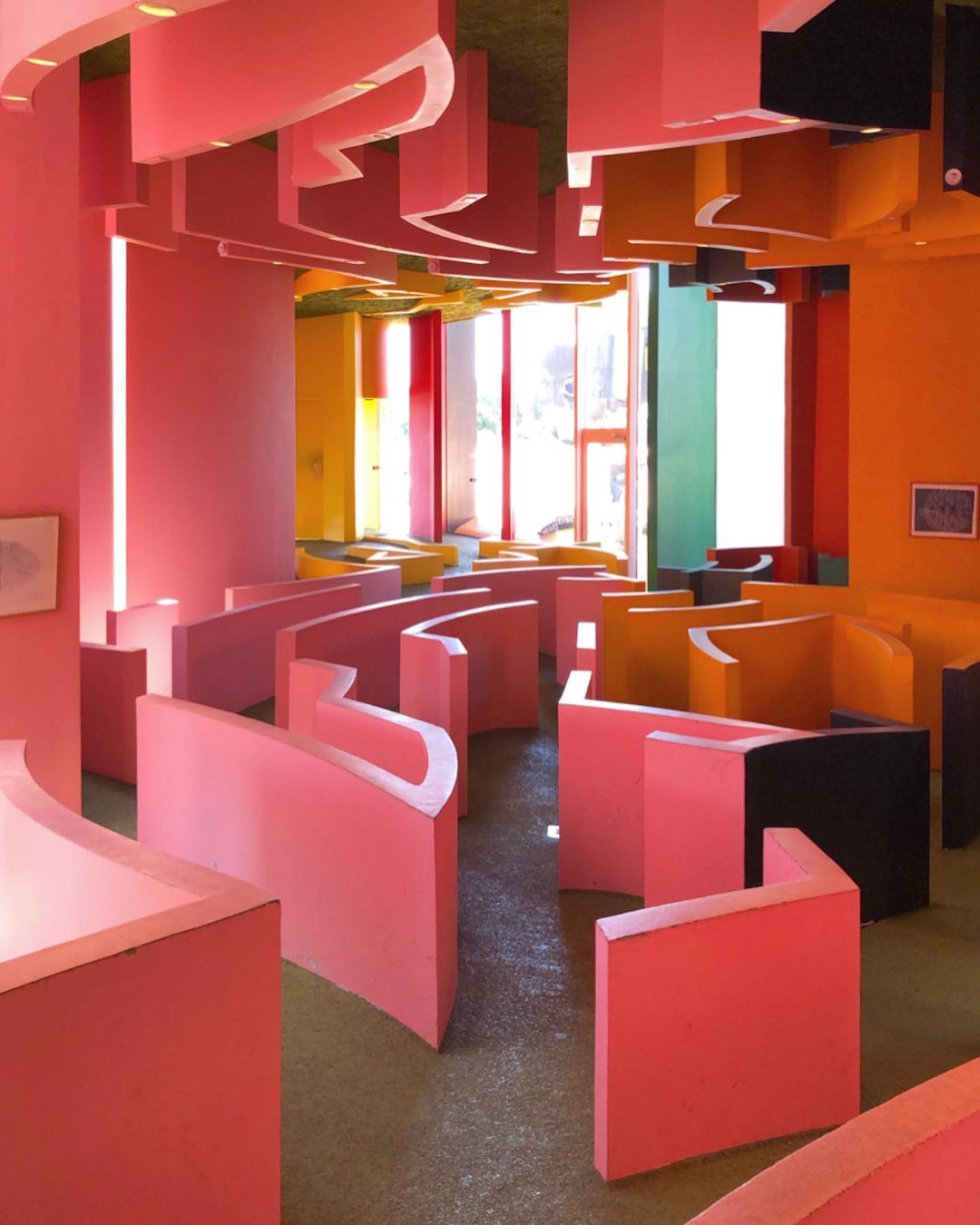 Colorful maze house